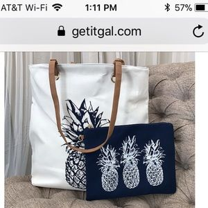 Canvas tote and pouch